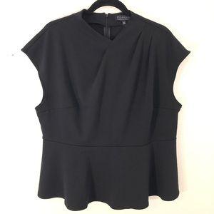 Eloquii Black Peplum Top Size 18/20W